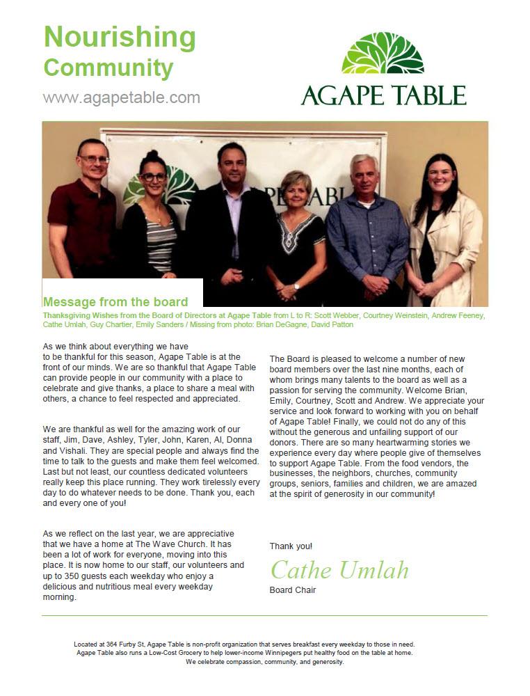 agape table newsletter october 2019 agape table. Black Bedroom Furniture Sets. Home Design Ideas